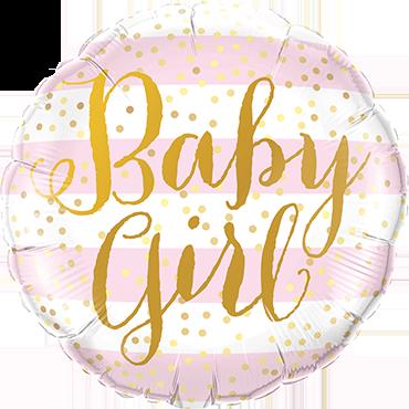 Folienballon Baby Girl Pink Stripes - 65040