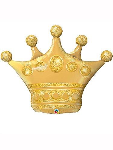 Foilballon Shape Crown golden -  41inch - 1 Stück