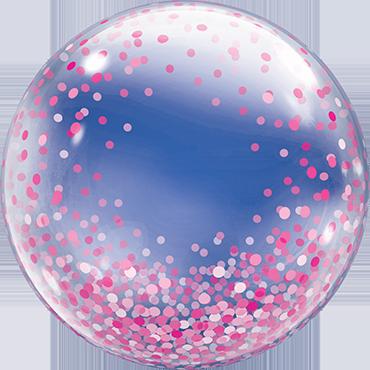 Decobubble Pink Confetti Dots - 61353