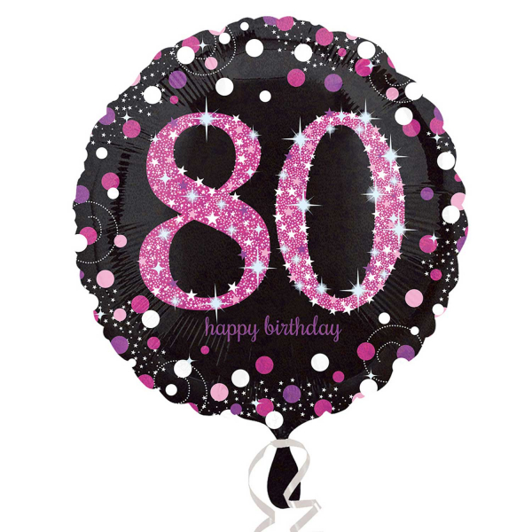 Folienballon Pink Celebration 80