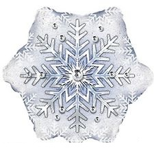Folienballon Dazzling Snowflake 36in/91cm - 1 Stück