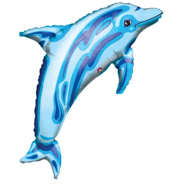 Folienballon Supershape Delfin blau - 55528