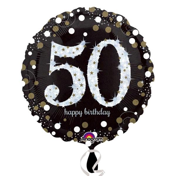 Folienballon Sparkling Birthday 50