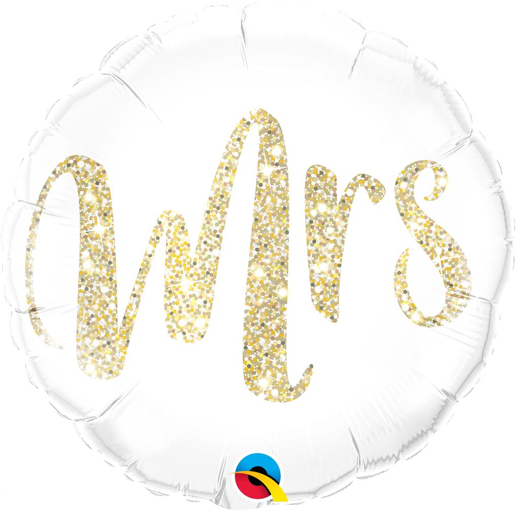 Folienballon Mrs Glitter Gold