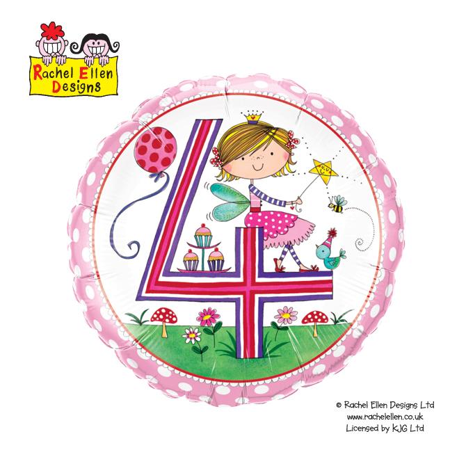 Folienballon Rachel-Ellen 4 Fairy Polka Dots - 55815