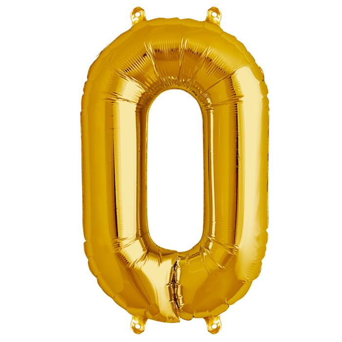 Zahlenballon Gold XL - 0