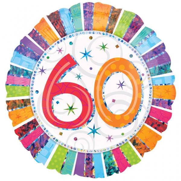 Folienballon Radiant Birthday 60