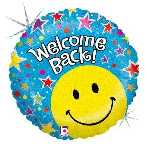 Folienballon Welcome Back Smiley
